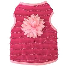 Ruffle Hot Pink Dog Tank by I See Spot