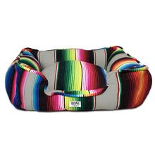 Saltillo Serape Bumper Dog Bed by Salvage Maria - Grey