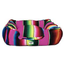 Saltillo Serape Bumper Dog Bed by Salvage Maria - Hot Pink