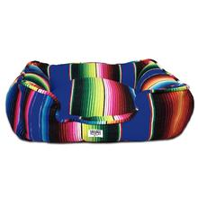Saltillo Serape Bumper Dog Bed by Salvage Maria - Azul