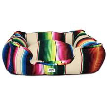 Saltillo Serape Bumper Dog Bed by Salvage Maria - Tan