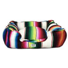 Saltillo Serape Bumper Dog Bed by Salvage Maria - White