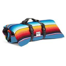 Saltillo Serape Rollup Travel Dog Bed by Salvage Maria - Light Blue