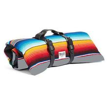 Saltillo Serape Rollup Travel Dog Bed by Salvage Maria - Grey