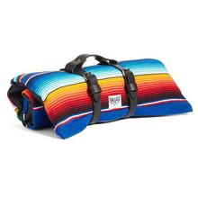 Saltillo Serape Rollup Travel Dog Bed by Salvage Maria - Azul