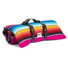 Saltillo Serape Rollup Travel Dog Bed by Salvage Maria - Hot Pink