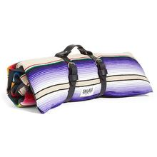 Saltillo Serape Rollup Travel Dog Bed by Salvage Maria - Tan