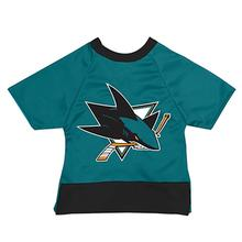 San Jose Sharks Mesh Dog Jersey - Teal with Black Trim