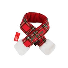 Santa's Dog Scarf by Puppia - Red Plaid