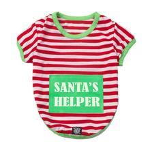 Santa's Helper Dog Night Shirt - Red/White