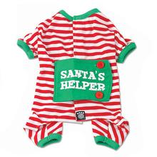 Santa's Helper Dog Pajamas by Petrageous - Red and White