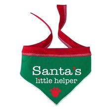 Santa's Little Helper Dog Bandana Scarf - Green