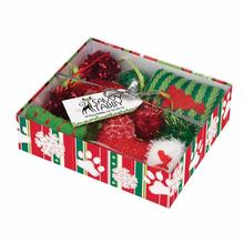 Savvy Tabby Crinkle Kitty Holiday Gift Set - Green and Red Set
