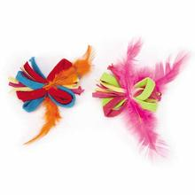 Savvy Tabby Loop Feather Ball Cat Toy