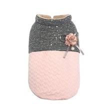 Parisian Pet Scalloped Dog Jacket - Pink and Gray