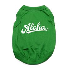Aloha Dog Shirt - Green