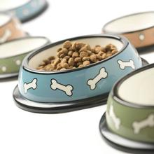 Scattered Bones Designer Plastic Dog Bowl