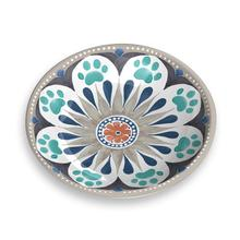 Carmel Medallion Pet Saucer by TarHong - Grey