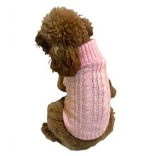 Scottish Cable Knit Dog Sweater by the Dog Squad - Pink