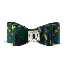 Scotty Big Bow Dog Hair Bow by Susan Lanci - Forest Plaid