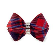Scotty Nouveau Bow Dog Hair Bow by Susan Lanci - Chestnut Plaid