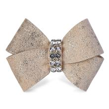 Champagne Glitzerati Nouveau Bow 2-Piece Dog Hair Bow Set by Susan Lanci