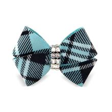 Scotty Nouveau Bow Dog Hair Bow by Susan Lanci - Tiffi Plaid