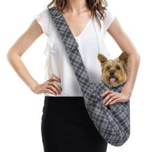 Scotty Charcoal Plaid Dog Cuddle Carrier by Susan Lanci