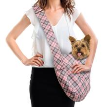 Scotty Puppy Pink Plaid Dog Cuddle Carrier by Susan Lanci