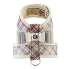 Scotty Tinkie Dog Harness with Big Bow by Susan Lanci - Doe Plaid