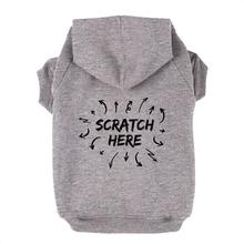 Scratch Here Dog Hoodie - Gray