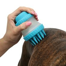 ScrubBuster Dog Bath Scrubber by Dexas - Blue