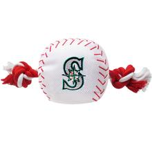 Seattle Mariners Nylon Plush Baseball Rope Dog Toy
