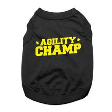 Agility Champ Dog Shirt - Black
