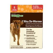 Sentry WormX Plus 7 Way De-wormer Dog Chew