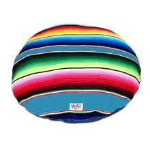 Serape Circulo Dog Bed by Salvage Maria - Light Blue