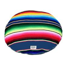 Serape Circulo Dog Bed by Salvage Maria - Azul
