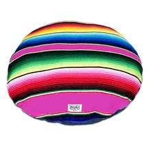 Serape Circulo Dog Bed by Salvage Maria - Hot Pink