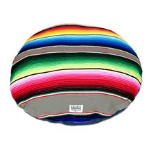 Serape Circulo Dog Bed by Salvage Maria - Grey