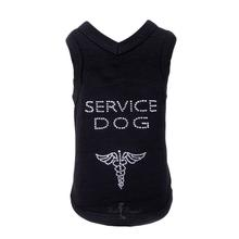 Service Dog Tank by Hello Doggie - Black