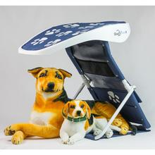 ShadyPaws Pet Shade - Captain Navy with White Paws