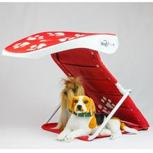 Dog Shade - Jockey Red with White Paws