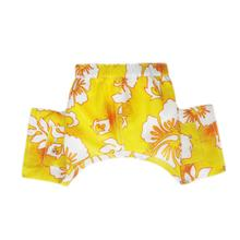 Belize Dog Swim Trunks - Yellow