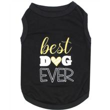 Best Dog Ever Dog Tank by Parisian Pet - Black