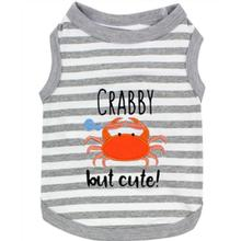 Crabby but Cute Dog Tank by Parisian Pet - Gray