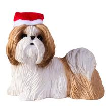 Shih Tzu Standing Christmas Ornament - Tan