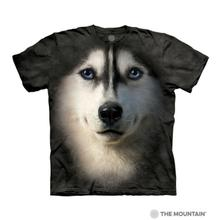 Siberian Husky Face Human T-Shirt by The Mountain