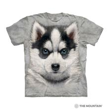 Siberian Husky Puppy Face Human T-Shirt by The Mountain
