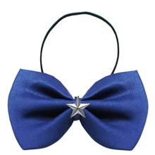 Silver Star Widget Dog Bow Tie - Blue