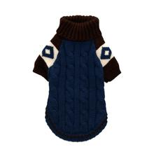 Ski Lodge Dog Sweater by Hip Doggie - Navy Blue